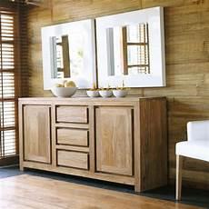 credenza maison du monde credenza a 2 ante e 3 cassetti in massello di legno di