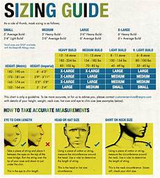 Respirator Mask Size Chart What Size Mask Do I Need Take A Look At Our Sizing