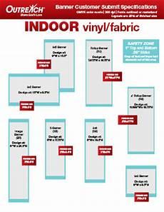 Banner Size Chart Custom Artguide Indoor Banners Outreach Com