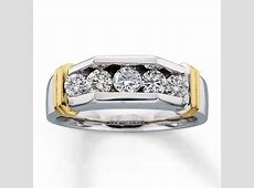 Previously Owned Men's Band 1 ct tw Diamonds 14K Two Tone