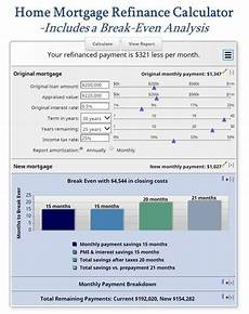 Refinance Calculator Mortgage Refinance Mortgage Home And Mortgage Calculator On Pinterest