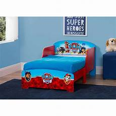 wood toddler bed for boys paw patrol