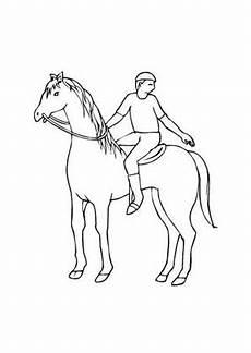 Pferde Ausmalbilder Reiten Ausmalbild Pferd Mit Jungem Reiter Kostenlos Ausdrucken
