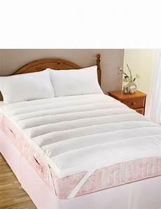 lumbar support feather mattress topper home bedroom chums