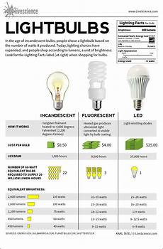 Comparison Of Incandescent And Led Light Bulbs Lightbulbs Incandescent Fluorescent Led Infographic