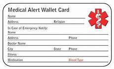 Medical Alert Cards Templates Medical Alert Card Template Pictures To Pin On Pinterest