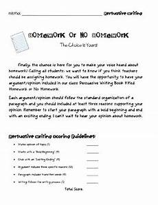 Persuasive Essay On Homework Persuasive Writing Project Homework Versus No Homework By
