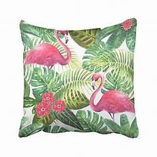buy tropical pink flamingos green leaves