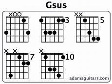 Gsus Guitar Chord Chart Gsus Guitar Chords From Adamsguitars Com