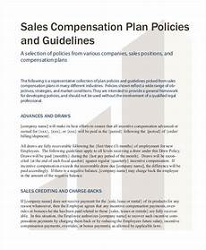 Sales Compensation Plan Template Free 25 Sales Plan Examples In Pdf Word Pages