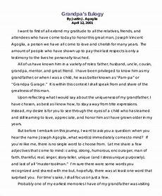 Funeral Speech For Grandpa 21 Eulogy Examples Eulogy Examples Eulogy For