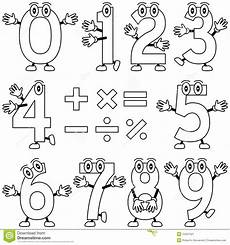 numbers characters vector illustration
