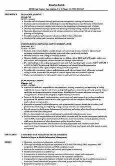 Coding Resume Resume Templates Certified Coder Resume