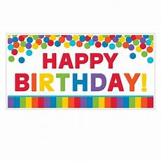 Colorful Happy Birthday Banner Amscan Primary Rainbow Happy Birthday Giant Party Sign 85