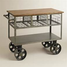 Mobile Kitchen Island In Rainwater 414385 Bryant Mobile Kitchen Cart Industrial Kitchen Islands