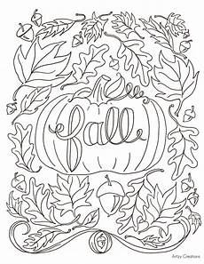 free fall coloring page artzycreations