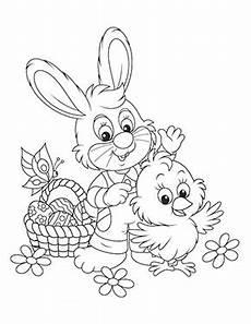 Ausmalbilder Tiere Ostern Ausmalbild Osterhase Mit Kueken Zum Ausmalen