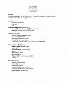 Example Of A Teenage Resume Teenage Resume Template Task List Templates