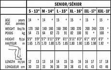 Shin Pads Size Chart Bauer Nsx Hockey Shin Guards Youth Pure Hockey Equipment