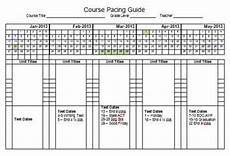 Curriculum Guide Template 2013 Semester Pacing Guide Template File Freebie By