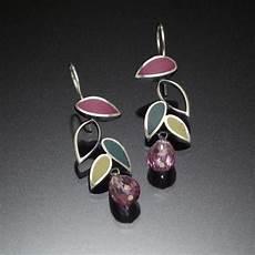 Kinzig Design Jewelry Falling Leaf Earrings Green Kinzig Design Studios