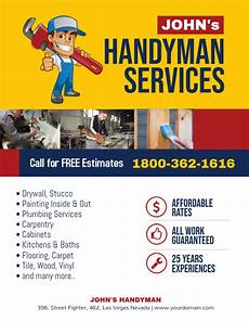How To Make Advertising Flyers Handyman Professional Services Flyer Template Postermywall