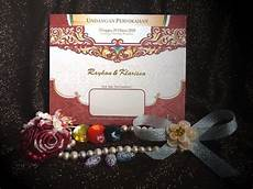 blangko undangan pernikahan icard wedding invitation