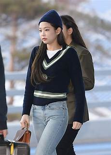 blackpink jennie s fashion at incheon airport 190201 codipop