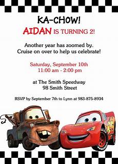 Cars Birthday Invites Cars Theme Birthday Party Invitation Invitationer