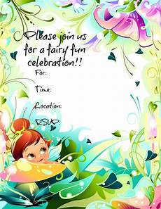 Fairy Party Invite Free Printable Fairy Invitations Freeprintables