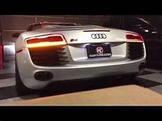 R8 Lights Audi R8 Euro Facelift Lights On Us Spec Vehicle Youtube