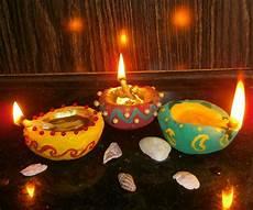 Making Diwali Lights Handmade Decorative Diya Oil Lamps