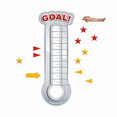 Fundraising Goal Thermometers Dry Erase Goal Thermometer X Large Removable Wall