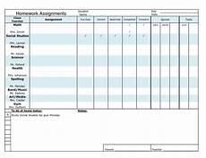 Homework Assignments Template 22 Homework Planner Templates Schedules Excel Pdf Formats
