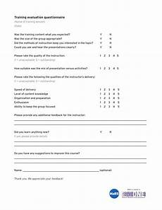 Training Evaluation Questions 9 Training Evaluation Survey Examples Pdf Word Examples