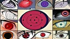 Naruto Eye Chart Naruto Top 30 Strongest Eyes Naruto Shippuden Naruto The