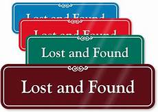 Lost And Found Sign 3 In X 10 In Showcase Wall Sign Sku Se 1632