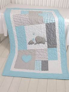 patchwork bebe aqua gray blanket elephant quilt blanket chevron baby