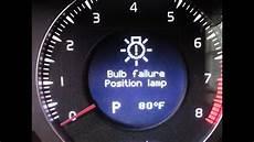 Volvo Position Light Warning Volvo Bulb Failure Position Lamp Youtube