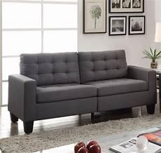 ealdun contemporary button tufted sofa loveseat in gray