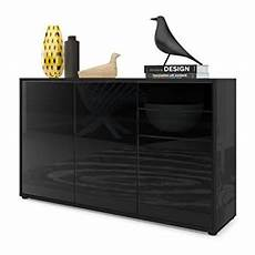 vladon cabinet chest drawers valencia carcass in black