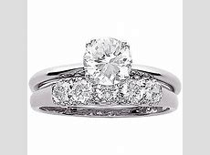 3.4 Carat T.G.W. CZ Wedding Ring Set in Sterling Silver