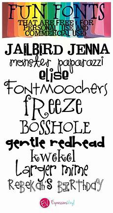 Fun Fonts Fun Whimsical Fonts Free For Personal And Commercial Use