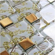 discount kitchen backsplash tile glass mosaic tile patterns plated gold glass