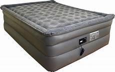 airtek king size air bed airbed plush pillow top mattress