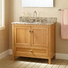 36 quot narrow depth alcott bamboo vanity for undermount