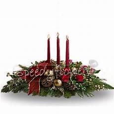 centrotavola di natale con candele inviare fiori natale spedire fiori natale