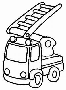 Ausmalbilder Feuerwehr Einfach Kleines Feuerwehrauto Ausmalbild Malvorlage Feuerwehr
