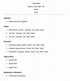 Easy Resume Template Madinbelgrade