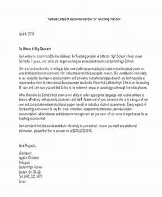 How To Use A Letter Of Recommendation Free 9 Letter Of Recommendation Samples In Ms Word Pdf